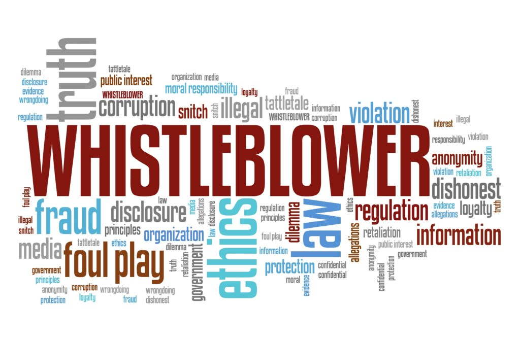 Whistleblower terminology. Whistleblowers file Qui Tam Suits