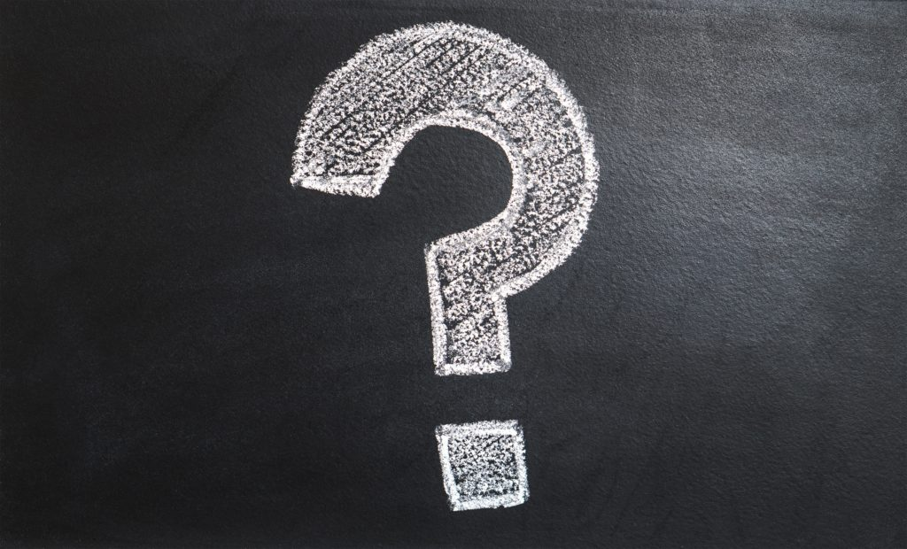 Image of a chalk question mark